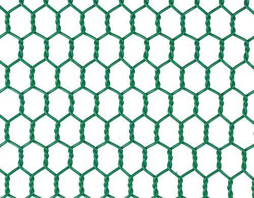 PVC Green Wire Netting 500mm X 25mm 10m