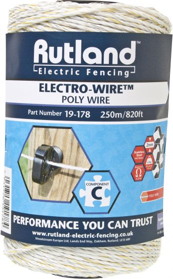 Rutland 6mm Standard Electro-Wire White