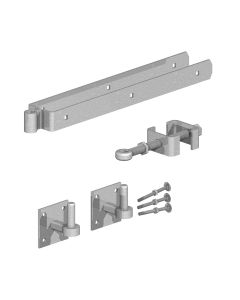 Birkdale Gatemate Field Gate Adjustable Hinge Set with Hooks on Plates