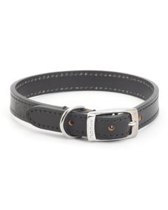 Ancol Heritage Leather Dog Collar Black