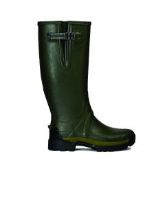 Hunter Mens Balmoral Side Adjustable II Neoprene 3mm Wellington Boots Olive