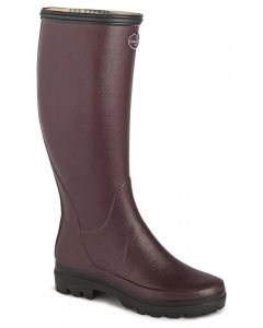 Le Chameau Ladies Giverny Wellington Boots Cherry
