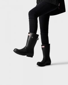Hunter Womens Original Short Wellington Boots Black