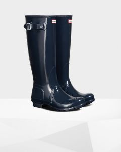 Hunter Womens Original Tall Gloss Wellington Boots
