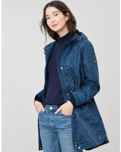 Joules Ladies Barrowden Printed Longline Coat