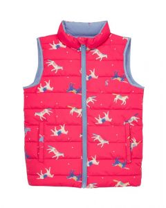 Joules Kids Girls Flip It Reversible Gilet
