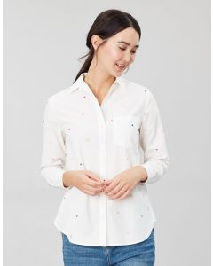 Joules Ladies Lorena Embroidered Longline Woven Shirt