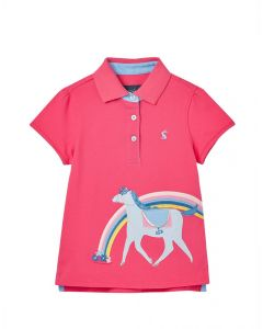 Joules Junior Girls Moxie Applique Polo Shirt