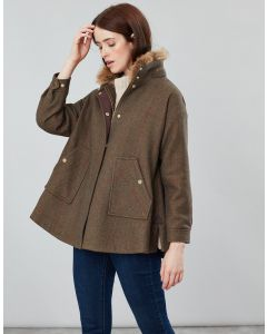 Joules Ladies Carolyn Tweed Swing Coat