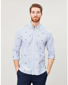 Joules Mens Ballintoy Long Sleeve Classic Fit Printed Shirt