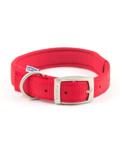 Ancol Heritage Padded Nylon Dog Collar Red