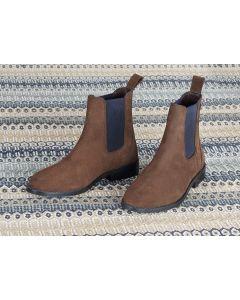 Shires Ladies Moretta Antonia Suede Chelsea Boots Brown