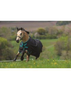 Horseware Amigo Hero ACY Lite 0g Turnout Rug Black/Teal/Dark Cherry