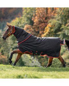 Horseware Amigo Bravo 12 Plus Heavy Turnout Rug 400g Black/Red/Gold