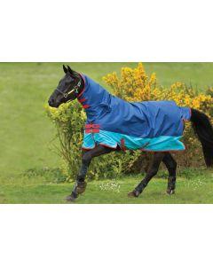 Horseware Mio All-In-One 0g Lite Turnout Rug Dark Blue/Aqua/Red