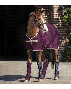 Horseware Amigo Jersey Cooler Rug Fig/Navy & Tan