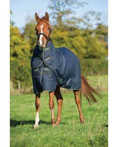 Horseware Amigo Pony Plus Medium 200g Insulator Stable Rug Navy/Green