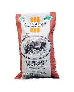 Allen and Page Pot-Bellied Pig Feed Pellets 20kg - Chelford Farm Supplies
