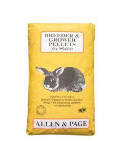 Allen and Page Rabbit Breeder & Grower Pellets 20kg - Chelford Farm Supplies