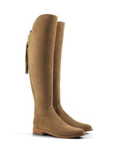 Fairfax & Favor Ladies Amira Flat Boots Suede Tan