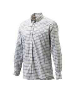 Beretta Mens Classic Shirt White/Amber/Blue Check