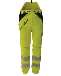 Arbortec Breatheflex Type A Class 1 Chainsaw Trousers Hi Vis Yellow