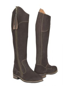 Toggi Ladies Campello Suede Country Boots Bitter Chocolate