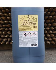 Bird Brand Traditional Creosote Dark Brown 25L Clear Drum