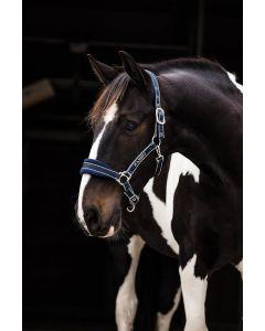 Horseware Rambo Padded Headcollar Witney Navy Stripe