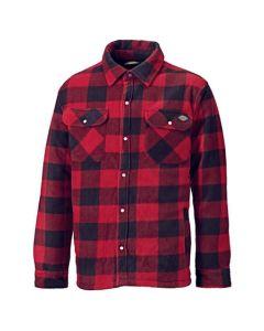 Dickies Portland Padded Shirt Red/ Black