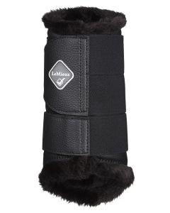 LeMieux Fleece Lined Brushing Boots Black