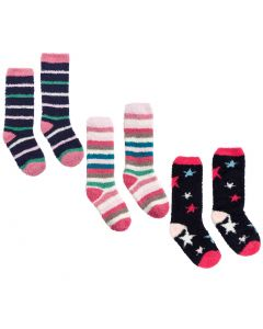 Joules Kids Girls Fluffy Socks