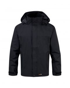 Fortress Mens Rutland Waterproof Jacket Black
