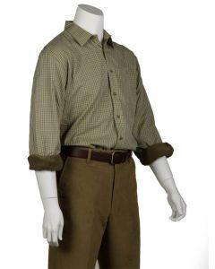 Bonart Mens Grendon Fleece Lined Shirt Beige