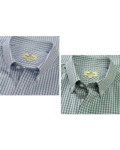 Hoggs of Fife Mens Perth Short Sleeve Checked Shirt