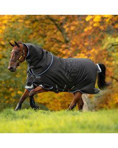 Horseware Amigo Bravo 12 Plus 250g Medium Turnout Rug Black & Blue