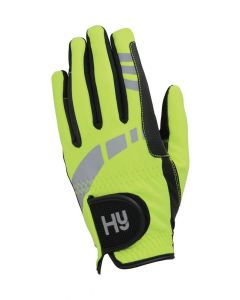 Hy Equestrian Hy5 Extreme Reflective Softshell Gloves Yellow - Chelford Farm Supplies