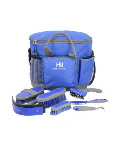 Hy Equestrian Sport Active Complete Grooming Bag Regal Blue - Chelford Farm Supplies