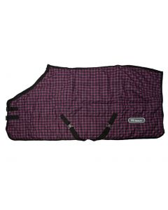 John Whitaker Newhey Medium Stable Rug 200g Purple Check