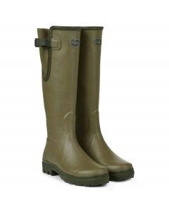 Le Chameau Ladies Vierzon Jersey Lined Boots Vert Vierzon - Chelford Farm Supplies