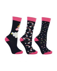 Little Rider Little Unicorn Socks 3 Pack - Childs - Chelford Farm Supplies