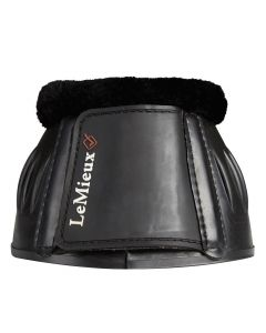 LeMieux Rubber Bell Boots With Fleece Black