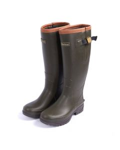 Barbour Ladies Tempest Wellington Boots Olive from Chelford Farm Supplies