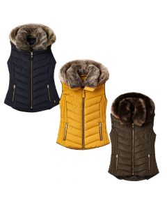 Joules Ladies Maybury Padded Gilet With Hood