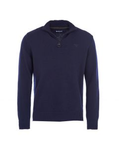 Barbour Mens Lambswool Half Zip Sweater Navy