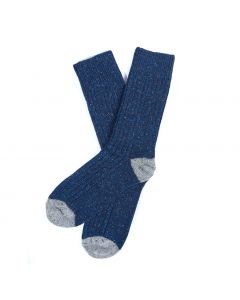 Barbour Mens Houghton Socks Navy Grey - Cheshire, UK