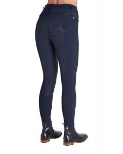Montar Ladies Nancy Soft Tech Full Seat Silicone Knee Breeches Navy