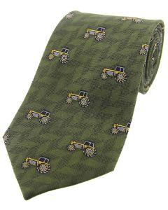 Sax Mens Soprano Yellow Tractors Country Silk Tie Green