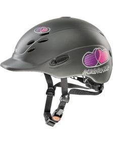 Uvex Onyxx Friends Forever Riding Helmet Anthracite Matt