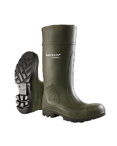 Dunlop Purofort Professional Non Safety Wellingtons Green - Cheshire, UK